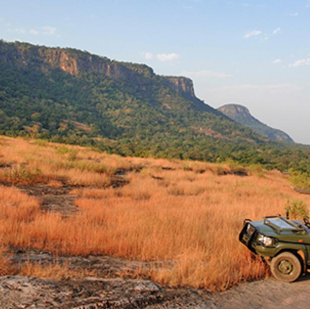 Jeep safari at Bandhavgarh National Park in India