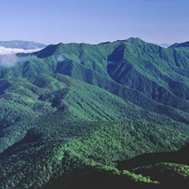 Mountains in Daisetsuzan National Park Japan