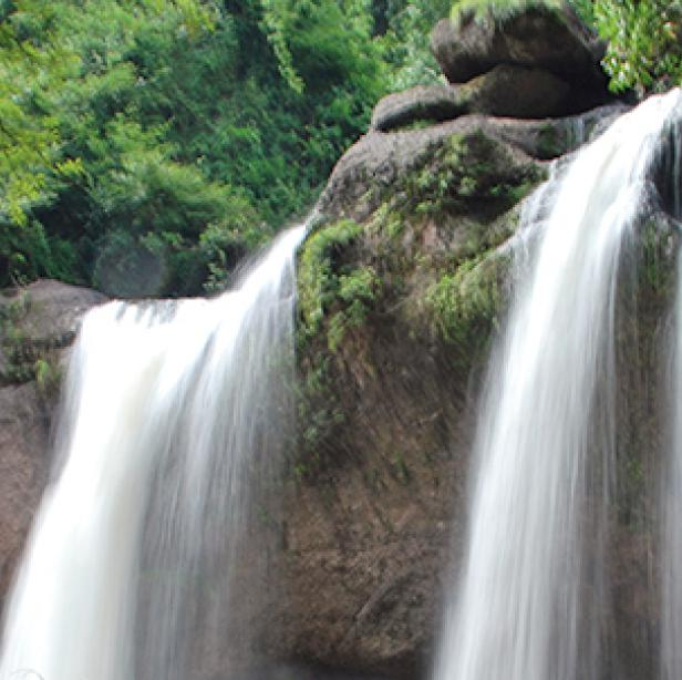 Haeo Suwat Waterfall at Khao Yai National Park in Thailand